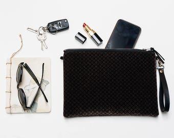 Velvet crossbody bag. Brown vegan clutch. Crossbody clutch. Vegan Purse Small crossbody clutch