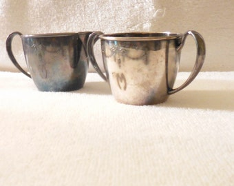 Creamer and Sugar Bowl, Silver-Plate. Oneida Community Plate, Hollow ware, Good condition, Vintage