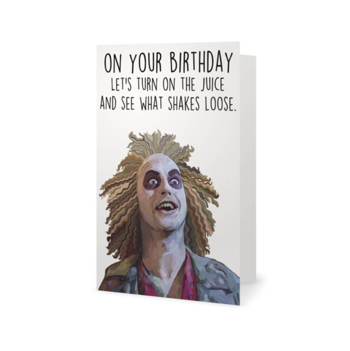 Beetlejuice Birthday Card Funny Birthday Card Party Alec – Bruce Springsteen Birthday Card