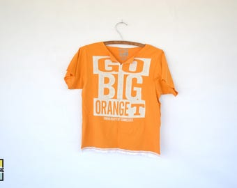 Custom Made Tennessee Vols Football Cropped Tee