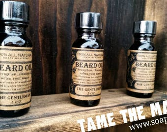 Beard Oil scented with pure essential oils TAME the MANE **FREE Shipping**