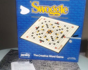 Vintage (c.1990) Swoggle Crossword board game published in Canada by Chieftain. Complete.