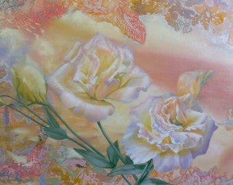 Painting 'Eustoma' gift to Beloved girl