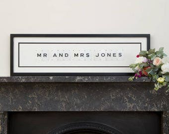 Personalised Vintage Mr And Mrs Wedding Frame by Vintage Playing Cards FREE UK SHIPPING!
