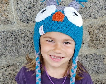 Grey and dark turquoise Hat