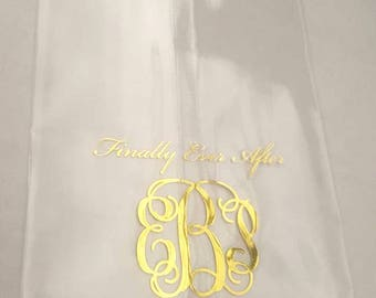 Happily Ever After Personalized Clear Favor Bags | Wedding Buffet Bag | Candy Bar | Dessert Bar | Wedding Favor Bags