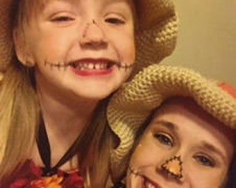 Floppy Crocheted Scarecrow Hat