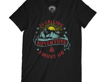 Fathers day shirt mountains are calling shirt adventure t-shirt hiking shirt mountaineer gift trip t-shirt  AP11