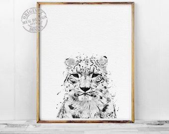 Cheetah Black and White Print, Cheetah Print, Cheetah Watercolor Painting, Black and White Wall Art, Cheetah Wall Art, Cheetah Art, Posters