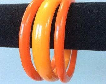 Bakelite Bangles Three Bracelet Set