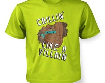 Chillin Like A Villain kids t-shirt