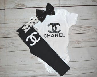 Chanel baby outfit, chanel outfit, chanel shirt, coming home outfit,newborn chanel outfit, womens chanel shirt, womens chanel outfit, chanel