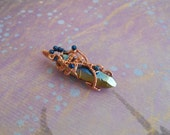 Crystal Pendent-Copper Free Form