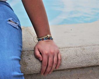 Single Bead Macrame Handmade Bracelet