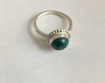 Chrysocolla Silver Ring