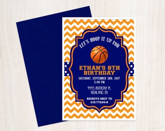 Basketball Invitation, Basketball Birthday, Basketball Party, Sports Party, Sports Birthday