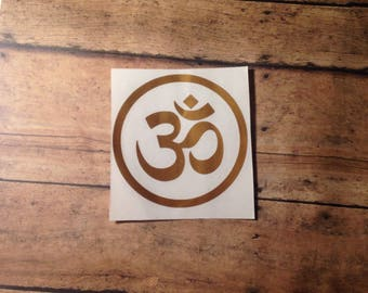 Om decal, Boho decal, Hippie decal, Car decals, Window decals, Namaste decal, Buddhist decal, Car decal hippie, Laptop stickers, Zen decal