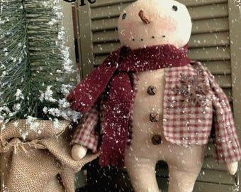 Primitive Handmade Cleo Snowman