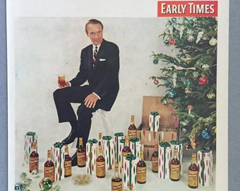 1957 Early TImes Bourbon Whiskey Print Ad