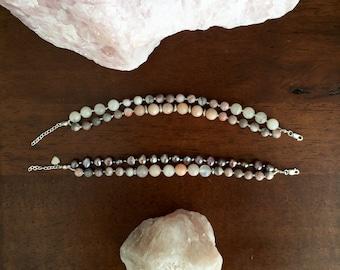 Custom Mala – 36 gemstone bead knotted bracelet