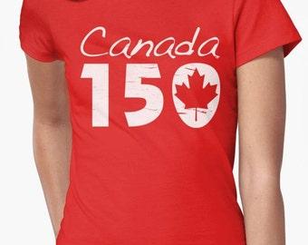CANADA 150 Anniversary Ladies T-shirt