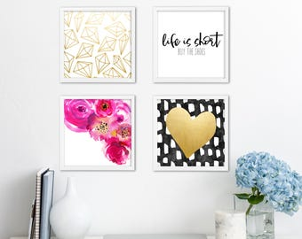 Girly Gallery Wall *4 PACK* | Downloadable Print | Instant Download | Gallery Wall | Printable