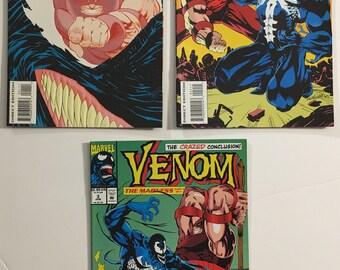 Venom: The Madness #s 1, 2, 3 Complete Set VF+ 8.5 WP - Marvel Comics Movie Soon