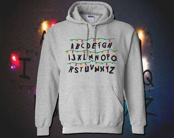 ALPHABET ABC Wall with Christmas Lights   Adult Unisex & Youth Hoodies