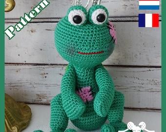 Crochet Pattern, pattern, tutorial, Amigurumi, Api frog