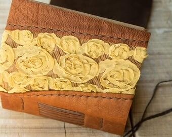 Light Brown Leather Journal, Handbound Journal, Romantic Diary, Notebook