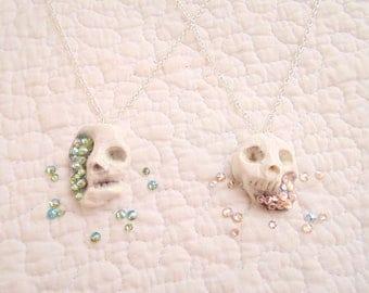 Geode Skull Necklace