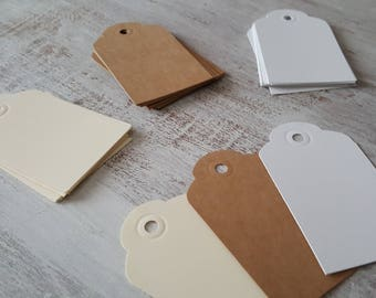 Set of 10 Blank Tags // Blank Kraft Tags // Blank Ivory Tags // Blank White Tags // Favor Tags // Gift Tags // Valentine's Day Gift Tag