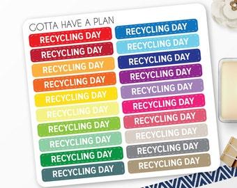 Planner Stickers Recycling Day Quarter Box for Erin Condren, Happy Planner, Filofax, Scrapbooking