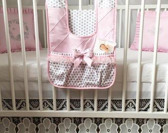 READY TO SHIP Diaper stacker - Diaper holder -  Diaper organizer - Newborn nursury accessory - Storage bag