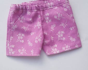 18 inch doll clothes pink floral shorts