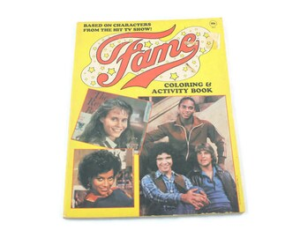 1983 Fame Coloring & Activity Book Vintage