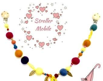 Baubles Baby Stroller chain, Felt Mobiles,  Newborn Gift, Stroller Bling,On Trend Style Gift, Stylish Gift, Baby Mobile