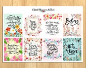 Christian Bible Verses Scriptures Planner Stickers   Motivational Stickers   Scriptures   Bible Verses Stickers (MS-021)