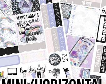 Unicorn Farts Mini/Horizontal Kit - Planner Stickers