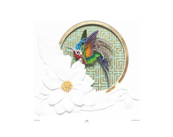 Hummingbird Print 'Warrior Spirit' Fine Art Print