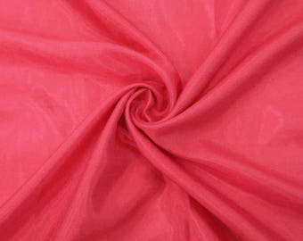 "Salmon Shantung Fabric, Dress Material, Silk Dupioni Fabric, Event Decor, 43"" Inch Wide Fabric By The Yard ZSH2D"