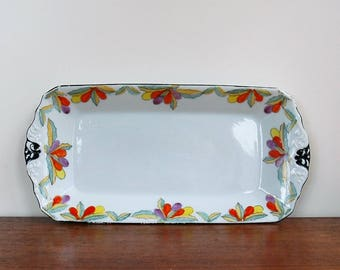 Sandwich plate / cake plate / handpainted / made in Japan
