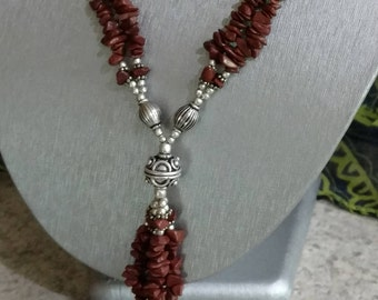 Red Jasper Beaded Necklace