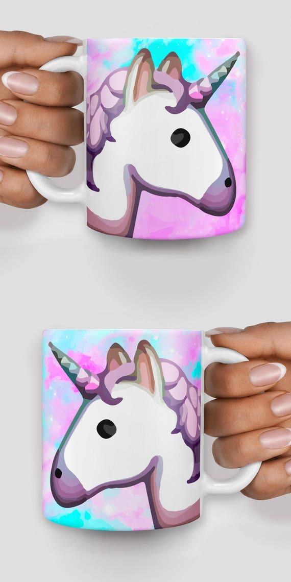 Unicorn emoji space mug - Christmas mug - Funny mug - Rude mug - Mug cup 4P089