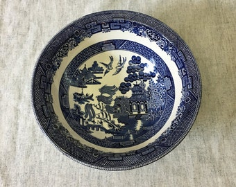 Vintage Johnson Brothers Blue Willow Vegetable Serving Bowl