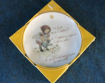 "Vintage Lasting Memories ""What is a Sister"" Decorative Plate"