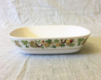 Vintage Noritake Progression Homecoming Oval Vegetable Bowl, Country Kitchen Fruit and Partridge Dishes, Autumn Dinnerware