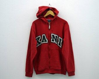 Karl Kani Sweatshirt Men Size M/L Karl Kani Jacket Karl Kani Hooded Sweater Jacket