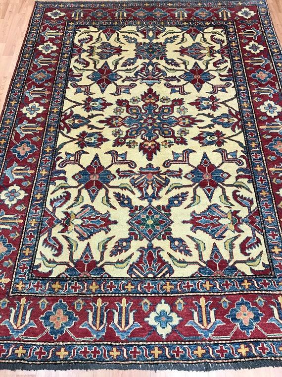 5' x 7' Pakistani Kazak Oriental Rug - Hand Made - 100% Wool - Vegetable Dye