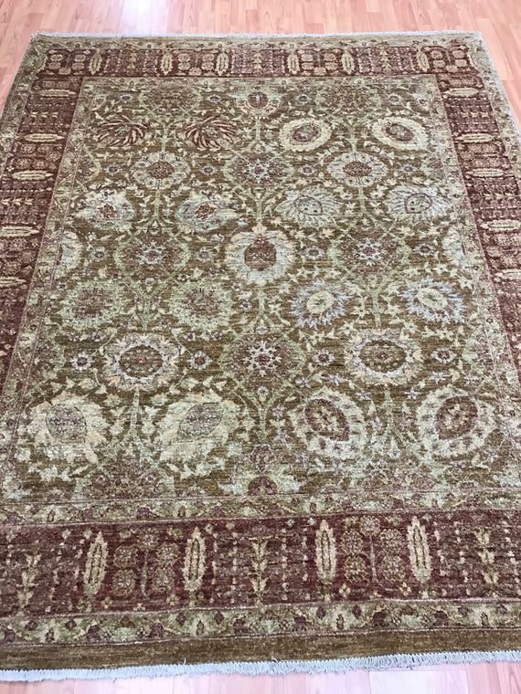 "5'10"" x 7' Pakistani Peshawar Oriental Rug - Hand Made - 100% Wool - Veg Dye"